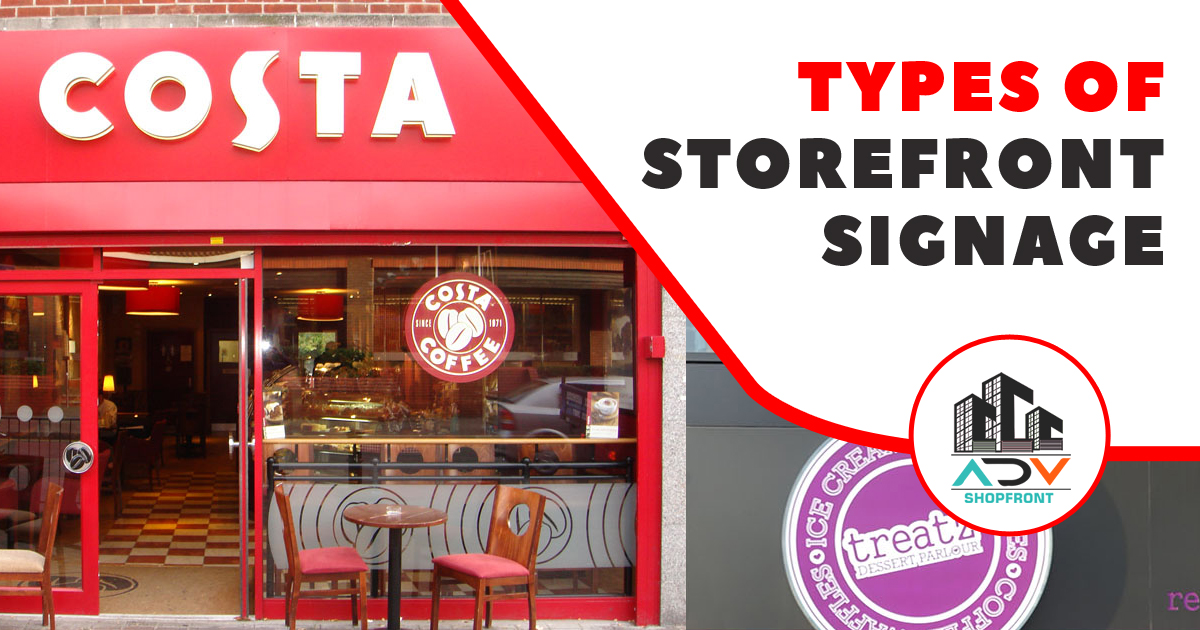 Types of Storefront signage